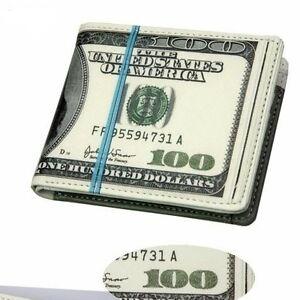 Fashion-Hot-100-US-Dollar-Printing-FUNNY-BIFOLD-Pocket-Wallet-Purse-W-Coin-bag