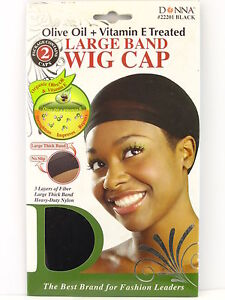 Donna Olive Oil Vitamin E Treated Large Band Wig Cap