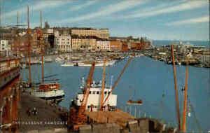 England-Postcard-1970-RAMSGATE-Kent-Harbour-Scene-Hafen-Schiffe-Postkarte-AK