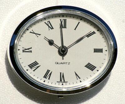 Motorhomes /& Boats White Roman Silver Bezel Oval Clock Suitable for Caravans