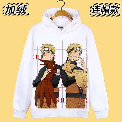Cosplay Uzumaki Naruto Anime Manga Kapuzen Sweatshirt Hoodie Pullover Neu