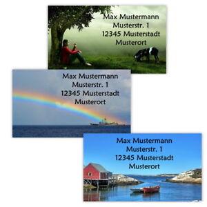 40-Adressetiketten-Adressaufkleber-oder-10-Visitenkarten-Motiv-034-Natur-034