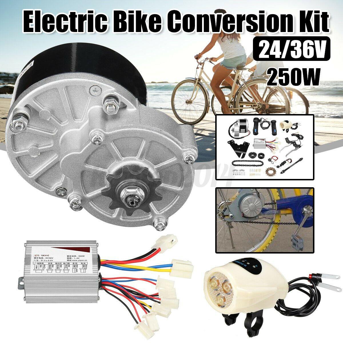 "24V 250W Electric Bike Conversion Kit Motor Controller F// 26/"" 28/"" E Bike Bicycle"