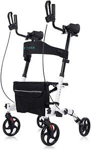 Upright Walker, Stand Up Folding Rollator Walker Back Erect Rolling Mobility