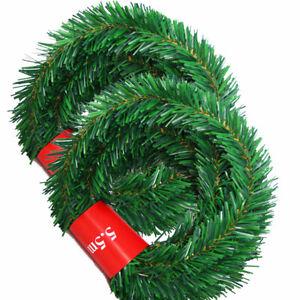 PINO-Di-Natale-Ghirlanda-Artificiale-Albero-Natale-Festa-Striscione-di-rattan-Ornamento-Decorazione