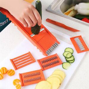 7-Stueck-Set-Obst-Gemuese-Kartoffelschneider-Cutter-Carrot-Chopper-Peeler-KuecheYE