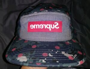 52df7fe1197 Supreme Comme des Garcons Hat SS13 Dot Digital Camo Box Logo Camp ...