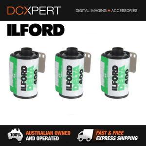 ILFORD-DELTA-400-3-PACK-24-EXPOSURES-35mm-BLACK-amp-WHITE-NEGATIVE-FILM