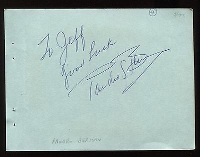 """Movies Pandro Berman Signed Album Page Inscribed """"to Jeff"""" Vintage Autographed In 1978 Wide Varieties"""
