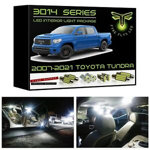 White LED interior lights package kit for 2007-2021 Toyota Tundra 3014 SMD +Tool