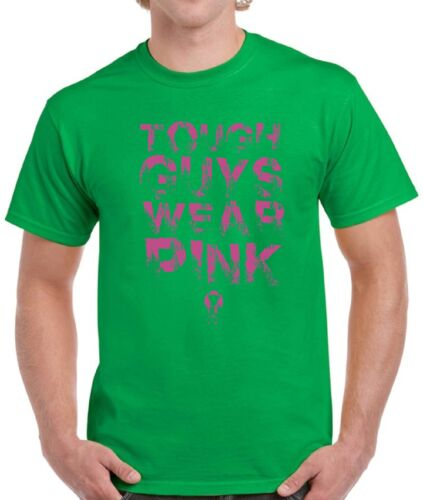 Tough Guys Wear Pink Shirts Tops T-shirts for Men Breast Cancer Awareness