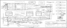"""Orline USA PIPER TOMAHAWK modello piani span 67"""" SCALA R/C"""