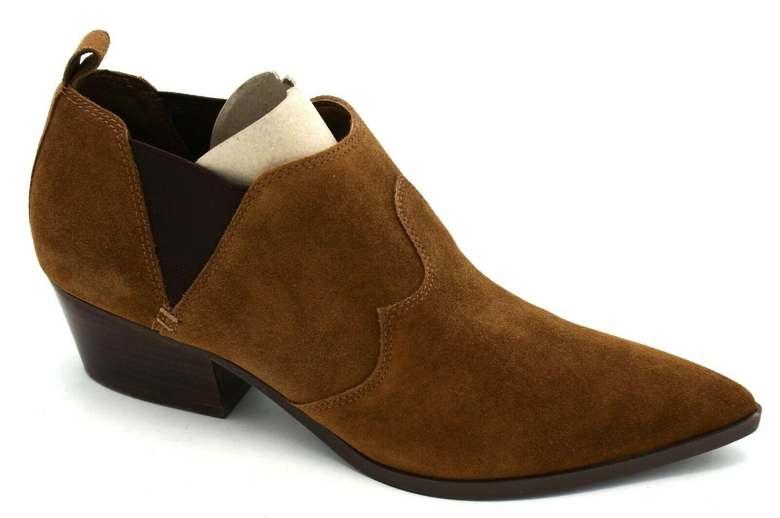 J8237 New w Box Women's Nine West Cahluz Brown Suede Ankle Boot 7.5 M