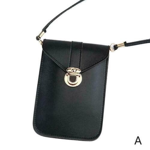 Women Buckle PU Touch Screen Fashion Crossbody Bag Phone Shoulder F4E4