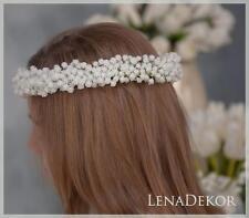 flower crown,flower head wreath,First Holy Communion wreath, wianek komunijny G1