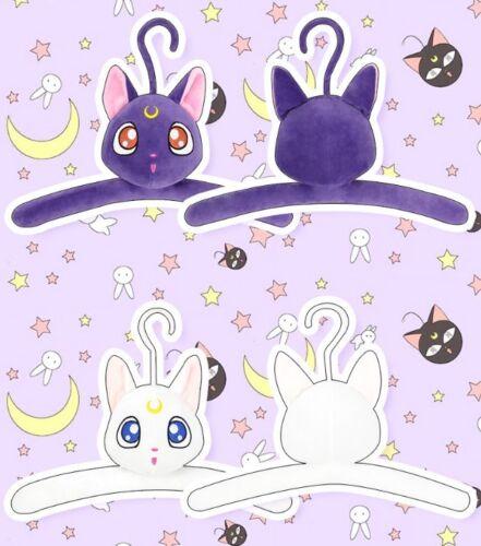 Japan Anime Sailor Moon Padded Hook Hangers Adult Coat Clothes Luna Artemis 2pc