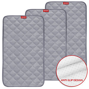 Waterproof-Changing-Pad-Liners-Bamboo-Quilted-3-Pack-14-x-27-Gray-Reusable