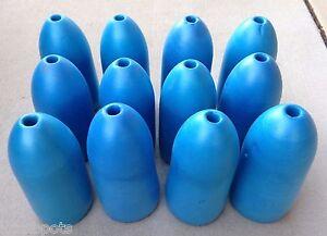 "BLUE Commercial Grade Crab Pot /& Trap Buoys Float EIGHT Pack 5/"" x 11/"" Bullet"