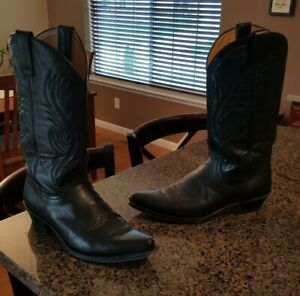 HOT-Men-039-s-Black-Leather-Sendra-Cowboy-Boots-11-5-46-Thee-Iowa-BOOT-MAN