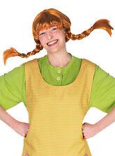 Pippi Langstrumpf Perücke für Erwachsene NEU - Karneval Fasching Perücke Haare