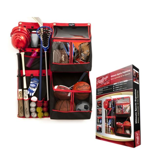 Rawlings Ultimate Sports Equipment Organizer Bats Sticks Gloves Helmet