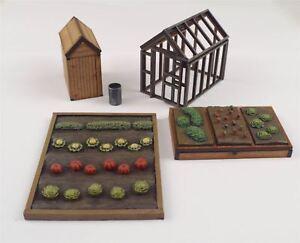 Parcela-Garden-Juego-OO-Calibrador-HO-de-WWS-Ferrocarril-Modelo-Modelado
