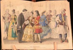 1883-Gravures-De-Mode-1863-83-Journal-des-Demoiselles-Hand-Coloured-Plates