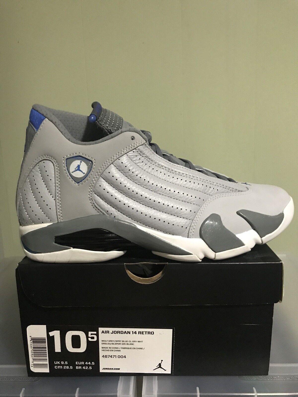 Nike Air Jordan Retro / 14 retro Wolf Gris / Retro sport Azul 487471-004 Hombre reducción de precio venta de liquidacion de temporada c77bb5