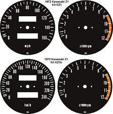 KAWASAKI INLINE 4'S  Z1 Z900 Z1000 Z1R TC MK2 Z650 Z750 SPEEDO TACH GAUGE FACES