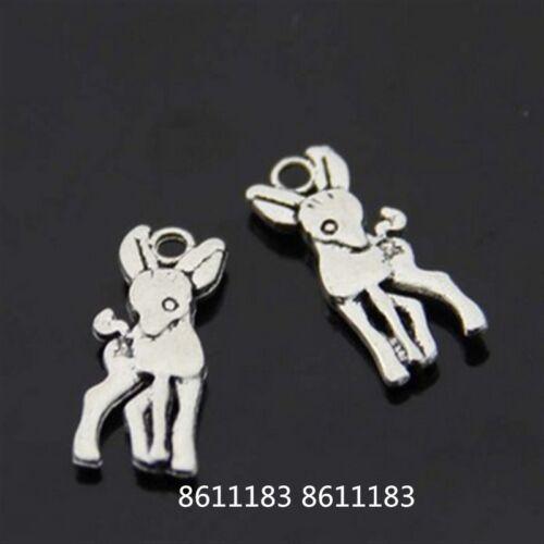 20pc Tibetan Silver Little Fawn Animal Pendant Charms Bead Accessories GP217