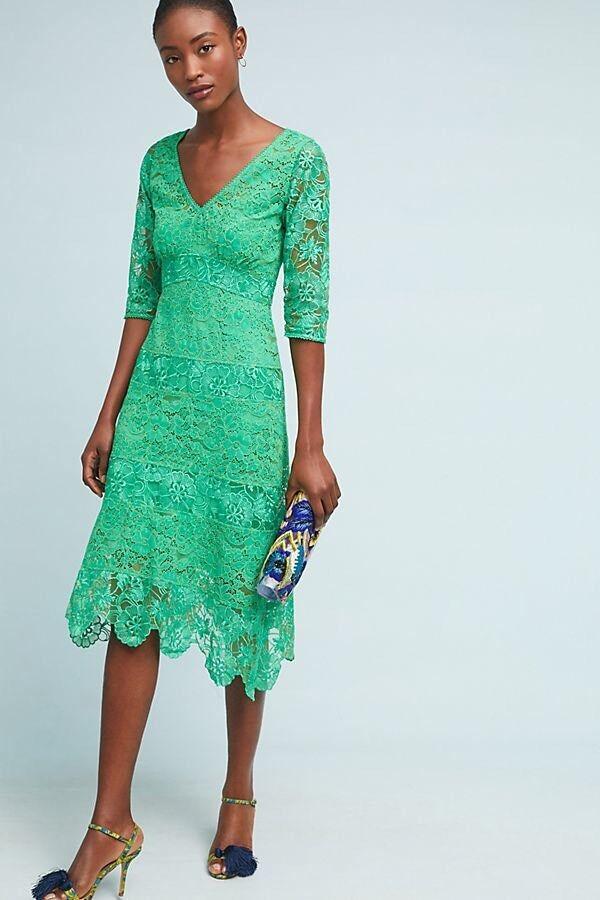 Plenty Tracy Reese Angelica Lace Midi Dress Size 4P P4 NWT Rare