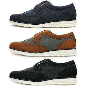 new wing tip casual stylish sneakers mens comfort dress