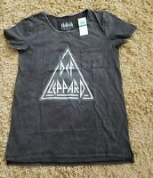 Juniors Sz L Def Leppard T-shirtnew