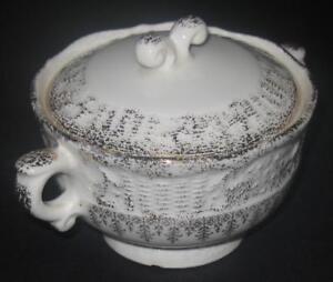 Washington-Colonial-SUGAR-BOWL-with-LId-Vogue-22k-gold-dinnerware