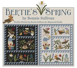 Bertie S Spring Wool Woolies Flannel Applique Complete