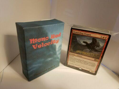 Mono Red Velocity Magic the Gathering MTG Standard /& Theme Decks
