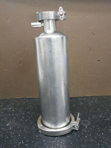"MILLIPORE STAINLESS STEEL FILTER HOUSING 13/"" X 3-1//2/"" WITH 3//4/"" NPT PORT"