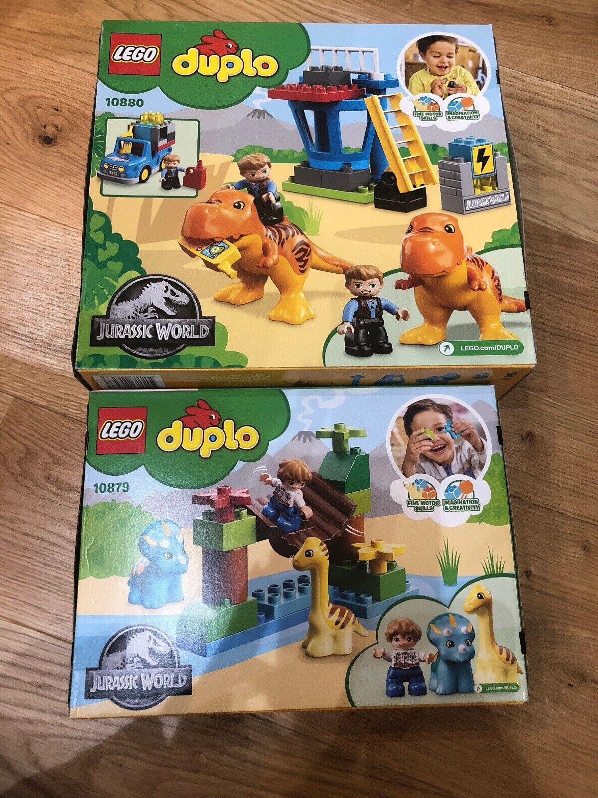 Lego 10879 Duplo Gentle Giants Petting Zoo & 10880 T.rex Tower Bundle New