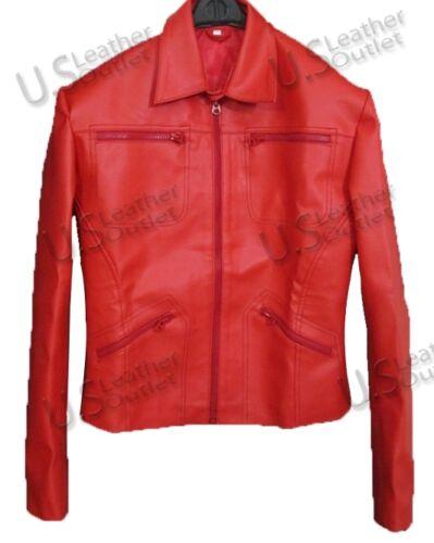 Leather Once Jennifer a Red Time Jacket upon Morrison Emma Swan Ladies rtwzrq