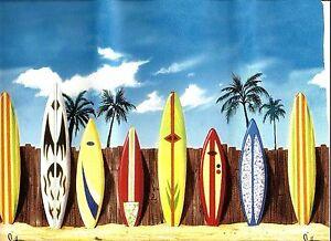 Details About Surfboards On A Sandy Beach Wallpaper Border Fdb03744