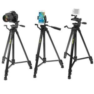 Trepied-Portable-155cm-pour-Appareil-Photo-Reflex-avec-Adaptateurs-N-Ht-Mobile