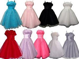 7234c36dd Detalles de Nuevo Vestido Niña de Fiesta Flor Chica 9 12 18 24 2 3 4 5 6 7  8 9 10 11 Años