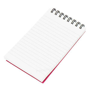 Shopping List | Mini Spiral Shopping List Paper Notebook Notepad 120 Page Pocket