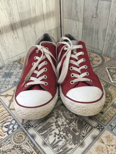 Sz4 37 tobillos Zapatillas deportivas acolchados en borgoña con Converse bajas 8zYPq