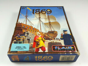 1869-by-FLAIR-Commodore-Amiga-Spiel-Big-Box-OVP-VGC-CIB-Sammlerzustand