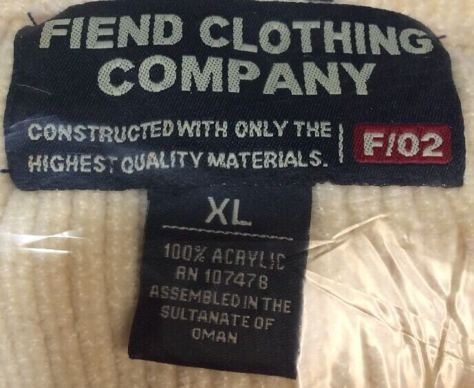 SWEATER FIEND CLOTHING COMPANY SIZE XL - image 7