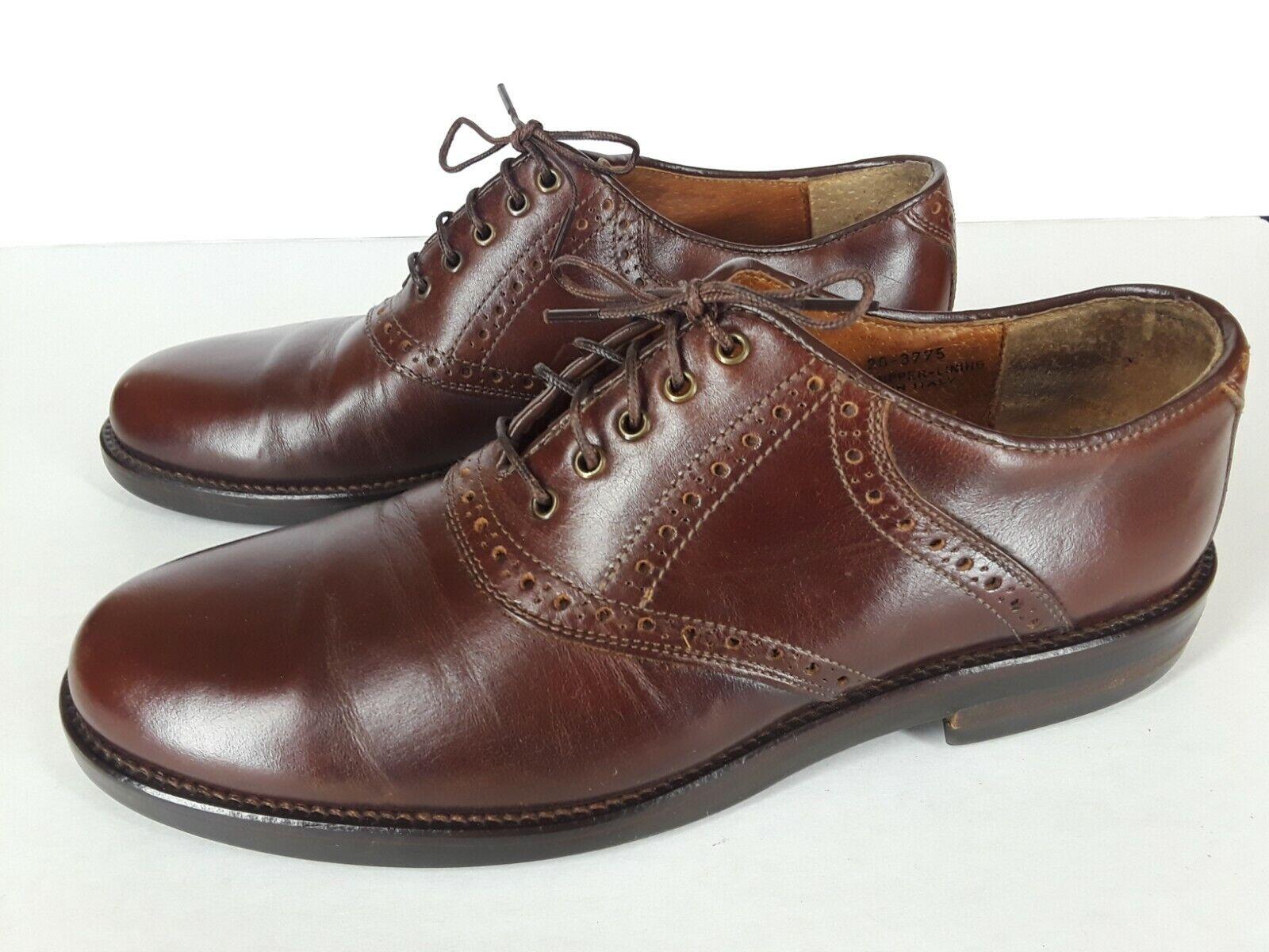 Johnston & Murphy Brown Mens Oxford Dress shoes Sz 7 1 2 M