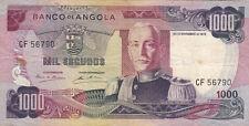 BILLET BANQUE ANGOLA 1000 escudos 1972 état voir scan 790