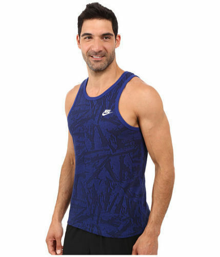 Nike Men/'s Summer Knit Solstice Cotton Tank Top Blue 871769 455 Size Large NWT