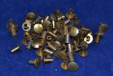 Tubular Rivets - Solid Brass - 4/16 Post - Set of 100  (B55)